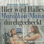"""20.07.2015 – """"Hier wird Halles Marathon-Mann durchgecheckt"""" – BILD HALLE"""