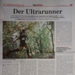 """05.08.2015 – """"Der Ultrarunner"""" – DIE NEUE SÜDTIROLER TAGESZEITUNG"""