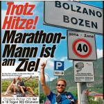 """12.08.2015 – """"Trotz Hitze! Marathon-Mann ist am Ziel"""" – BILD HALLE"""