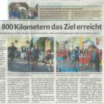"""12.08.2015 – """"Nach 800 Kilometern das Ziel erreicht"""" – DOLOMITEN"""