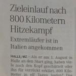 """13.08.2015 – """"Zieleinlauf nach 800 Kilometern Hitzekampf"""" – MZ HALLE"""