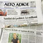 """14.08.2015 – """"L'impresa: da Halle ad Appiano di corsa"""" – ALTO ADIGE"""
