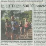 """16.08.2015 – """"In elf Tagen 800 Kilometer gelaufen"""" – SUPERSONNTAG"""