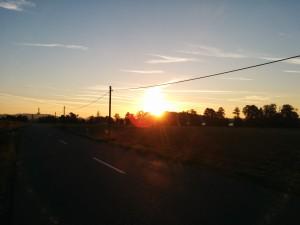 Der frühe Vogel... erlebt einen wunderschönen Sonnenaufgang (in Burglengenfeld).