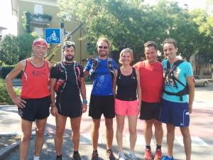 Letzte Teiletappe: Fünf Mitläufer haben sich für Christian gefunden. Ganz Stark!