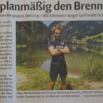 "11.08.2015 – ""Am zehnten Tag planmäßig den Brenner gequert"" – DOLOMITEN"