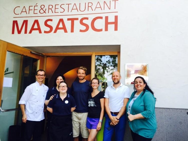 Danke an das Café & Restaurant Masatsch für ein sehr leckeres Mittagessen mit Spaghetti Carbonara und Goldbrasse.